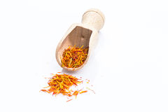 Saffron. On isolate white background Royalty Free Stock Photo