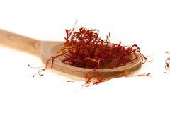 Saffron of L'Aquila. A spoon of delicious saffron cultivated in Navelli, L'Aquila, IT Stock Photos