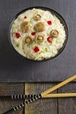 Saffron Milk Cap mushroom rice with white wine sauce Stock Photography