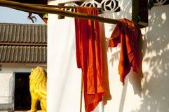 Saffron Monk Robes - Luang Prabang. Laos Stock Photos