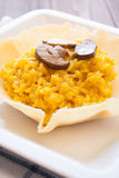 Saffron and mushroom risotto Stock Photography
