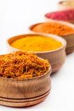 Saffron,paprika,sumac,turmeric Royalty Free Stock Photo