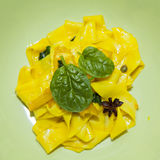 Saffron Pasta Stock Photography