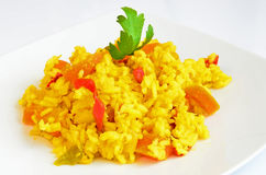 Saffron rice Royalty Free Stock Image