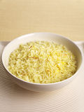 Saffron Rice and Copy Space Royalty Free Stock Photography