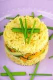 Saffron rice with crunchy vegetables Stock Images