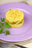 Saffron rice with crunchy vegetables Stock Photos