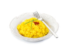 Saffron rice on dish Stock Photo