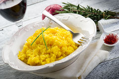 Saffron rice on dish Stock Photography