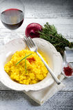 Saffron rice on dish Royalty Free Stock Images