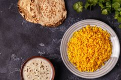 Saffron rice with spices. Royalty Free Stock Photo