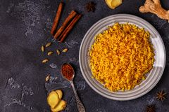 Saffron rice with spices. Stock Photography