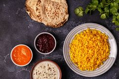 Saffron rice with spices. Royalty Free Stock Photos