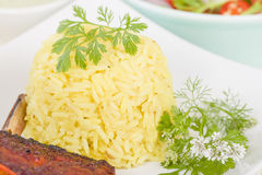 Saffron Rice Stock Photography