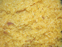 Saffron rice. Typical Indian food Stock Photography