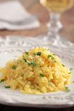 Saffron risotto Royalty Free Stock Images
