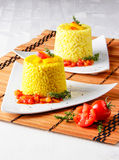 Saffron risotto Royalty Free Stock Image