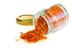 Saffron spice on white
