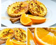 Saffron tarts Royalty Free Stock Photos
