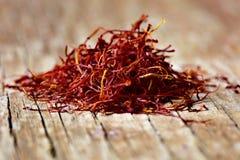 Saffron threads Stock Photo