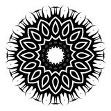 Saffron Vector Glyph Symbol. A round black and white floral vector symbol Royalty Free Stock Photos