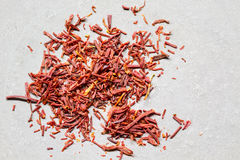 Saffron. On a white background Stock Images
