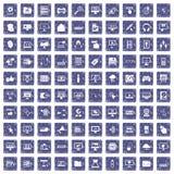 safir för grunge för 100 datorsymboler fastställd Arkivbilder