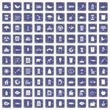 safir för grunge för 100 ekologisymboler fastställd Arkivbild