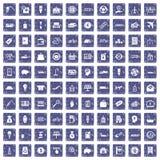 safir för grunge för 100 ekonomisymboler fastställd Arkivbild