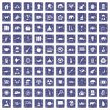 safir för grunge för 100 elefantsymboler fastställd Fotografering för Bildbyråer