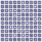 safir för grunge för 100 energisymboler fastställd Royaltyfria Bilder