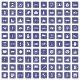 safir för grunge för 100 Europa landssymboler fastställd Arkivfoto