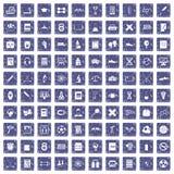 safir för grunge för 100 högskolasymboler fastställd Arkivfoton