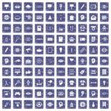 safir för grunge för 100 idérika marknadsföringssymboler fastställd Arkivbild