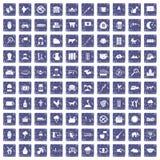 safir för grunge för 100 kosymboler fastställd Royaltyfri Bild