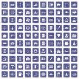safir för grunge för 100 krediteringssymboler fastställd Arkivbilder