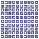 safir för grunge för 100 läckra disksymboler fastställd Royaltyfri Fotografi