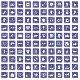 safir för grunge för 100 olika gestsymboler fastställd Royaltyfria Foton
