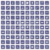 safir för grunge för 100 servicesymboler fastställd Arkivfoton