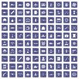 safir för grunge för 100 symboler för stridmedel fastställd Royaltyfri Fotografi