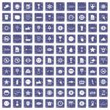 safir för grunge för 100 symbolsymboler fastställd Royaltyfri Foto