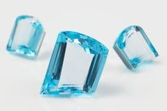 Safira azul Fotografia de Stock