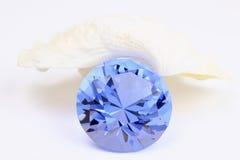 Safira azul Fotografia de Stock Royalty Free