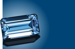 Safira azul brilhante Ilustração Stock