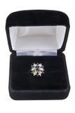 Safira e anel de diamante Imagem de Stock Royalty Free