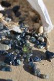 Safiras ásperas Imagem de Stock