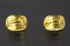 Safiras amarelas Imagem de Stock