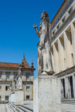 Safo statue in Coimbra University, Portugal. Royalty Free Stock Image