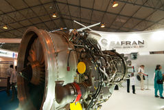 Safran exhibit at Aero Show Royalty Free Stock Photos