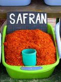 Safran spice. At the tunisian market Stock Photo
